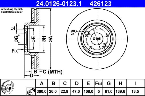 garnitures avant renault laguna II 2 15 pouces à partir de 2001 2 Disques de frein 280mm
