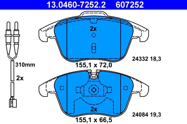2x étrier de réparation de rep-Jeu étanchéité arrière 38 mm Bendix-Bosch système
