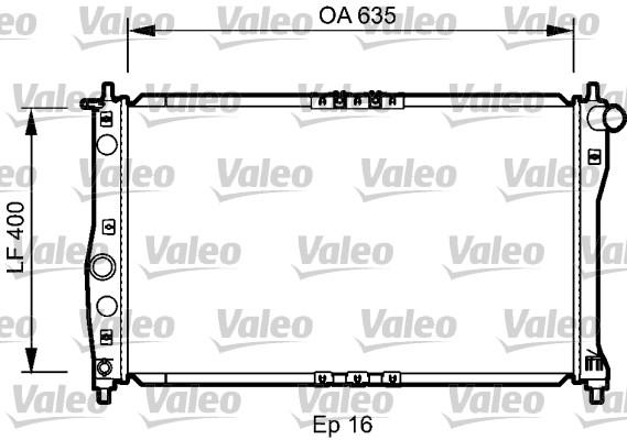 radiateur du moteur pour daewoo lanos  t100  1 5