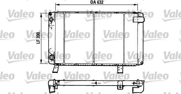 radiateur du moteur pour peugeot 505 berline 551a 2 5 turbo diesel. Black Bedroom Furniture Sets. Home Design Ideas