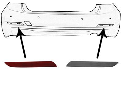 r flecteur arri re pour bmw serie 3 f30 320d. Black Bedroom Furniture Sets. Home Design Ideas