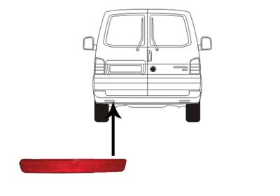 r flecteur arri re pour volkswagen multivan v 7hm 2 5 tdi. Black Bedroom Furniture Sets. Home Design Ideas