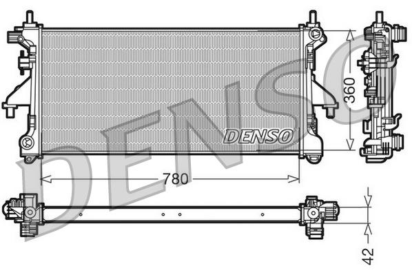 radiateur du moteur pour fiat ducato iii autobus 130. Black Bedroom Furniture Sets. Home Design Ideas