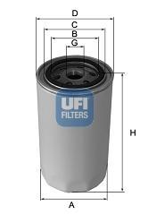 Filtre de liquide de refroidissement UFI 29.001.00