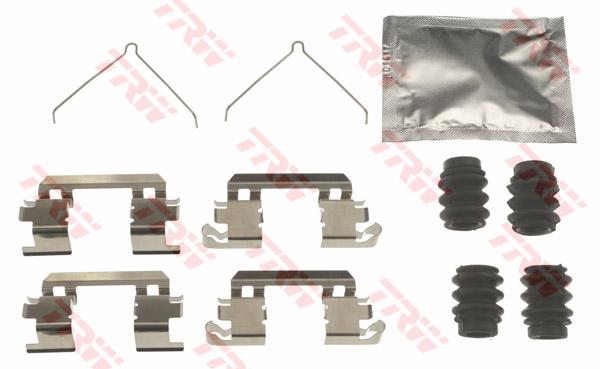 Kit d'accessoires, plaquette de frein à disque TRW PFK648