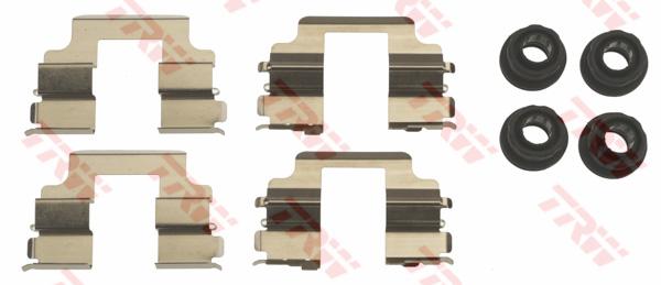 Kit d'accessoires, plaquette de frein à disque TRW PFK658