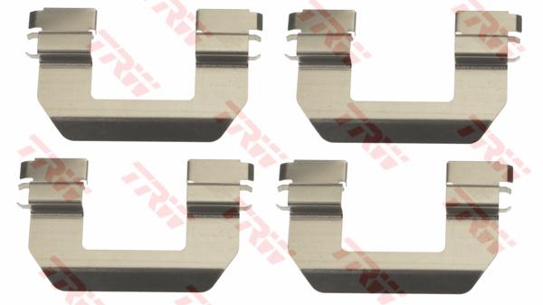 Kit d'accessoires, plaquette de frein à disque TRW PFK659
