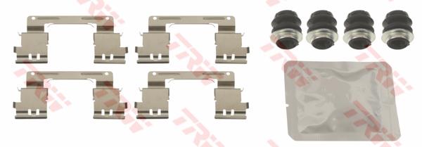 Kit d'accessoires, plaquette de frein à disque TRW PFK670