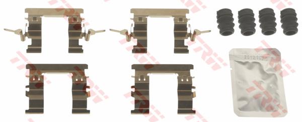 Kit d'accessoires, plaquette de frein à disque TRW PFK674
