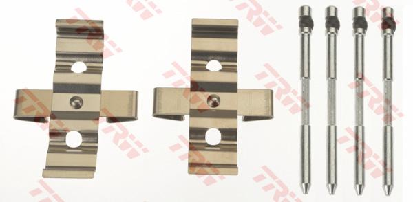Kit d'accessoires, plaquette de frein à disque TRW PFK680