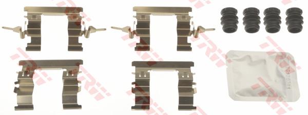 Kit d'accessoires, plaquette de frein à disque TRW PFK685