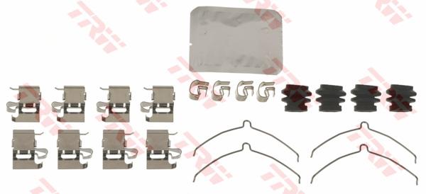 Kit d'accessoires, plaquette de frein à disque TRW PFK690