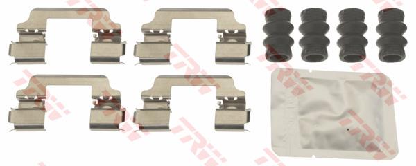 Kit d'accessoires, plaquette de frein à disque TRW PFK692