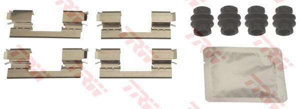 Kit d'accessoires, plaquette de frein à disque TRW PFK700