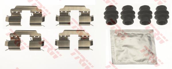 Kit d'accessoires, plaquette de frein à disque TRW PFK705
