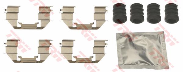 Kit d'accessoires, plaquette de frein à disque TRW PFK712