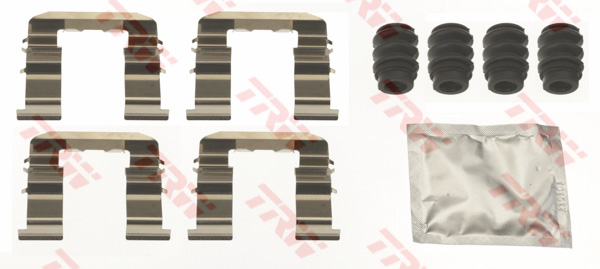 Kit d'accessoires, plaquette de frein à disque TRW PFK714