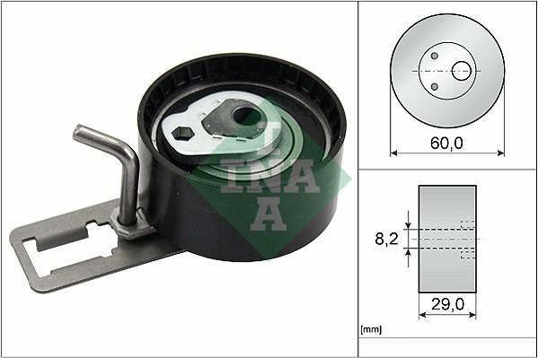 galet tendeur de courroie de distribution pour ford c max 1 6 tdci. Black Bedroom Furniture Sets. Home Design Ideas