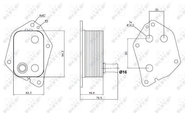 radiateur d u0026 39 huile pour hyundai ix35  lm  1 7 crdi