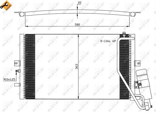 Condenseur climatisation nrf 35558 for Garage saab lyon