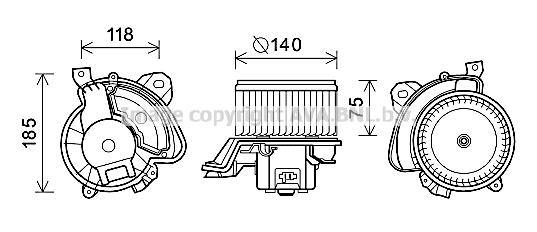 moteur  u00e9lectrique  pulseur d u0026 39 air habitacle pour alfa romeo