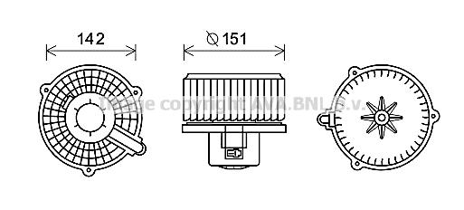 moteur lectrique pulseur d 39 air habitacle pour hyundai. Black Bedroom Furniture Sets. Home Design Ideas