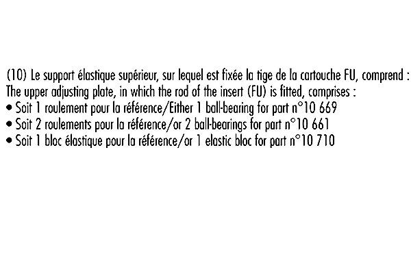 Jeu de 2 amortisseurs RECORD-FRANCE 10661