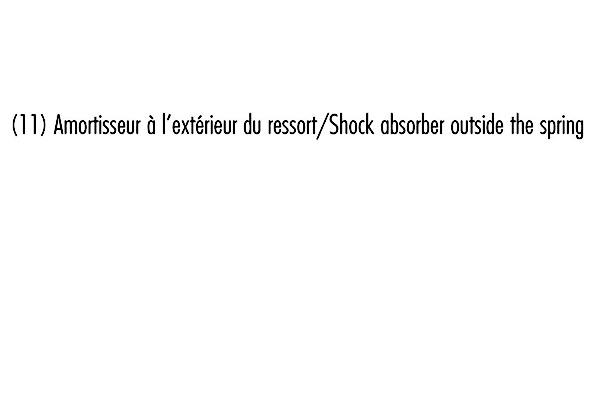 Jeu de 2 amortisseurs arrière RECORD-FRANCE 10587