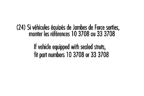 Jeu de 2 amortisseurs avant RECORD-FRANCE 103082