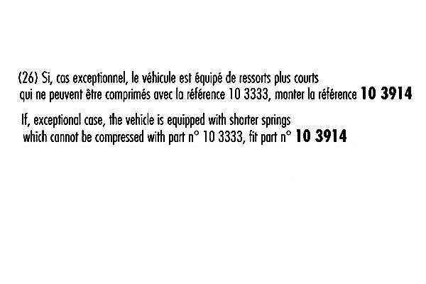Jeu de 2 amortisseurs avant RECORD-FRANCE 103333