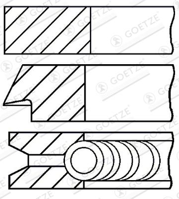 Jeu de segments de pistons GOETZE 08-138900-00 d'origine