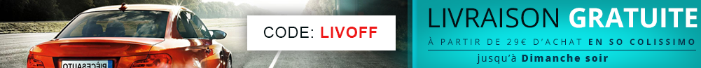 * Offre non cumulable, valable en livraison So Colissimo, hors frais jusqu'au 11/10/2015