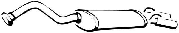 Silencieux arrière WALKER 14238 d'origine