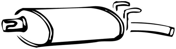 Silencieux arrière WALKER 14250 d'origine