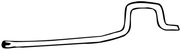 Tuyau d'échappement WALKER 14256 d'origine