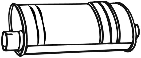 Silencieux arrière WALKER 14505 d'origine