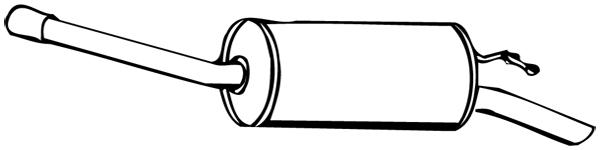 Silencieux arrière WALKER 14982 d'origine