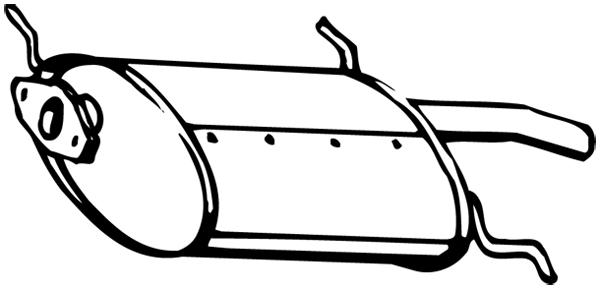Silencieux arrière WALKER 15750 d'origine