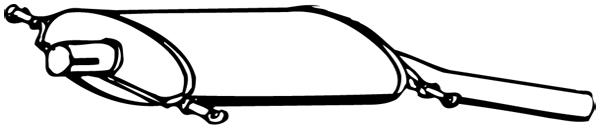 Silencieux arrière WALKER 17018 d'origine