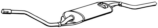 Silencieux arrière WALKER 17034 d'origine