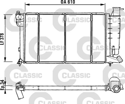 radiateur du moteur valeo 231181. Black Bedroom Furniture Sets. Home Design Ideas