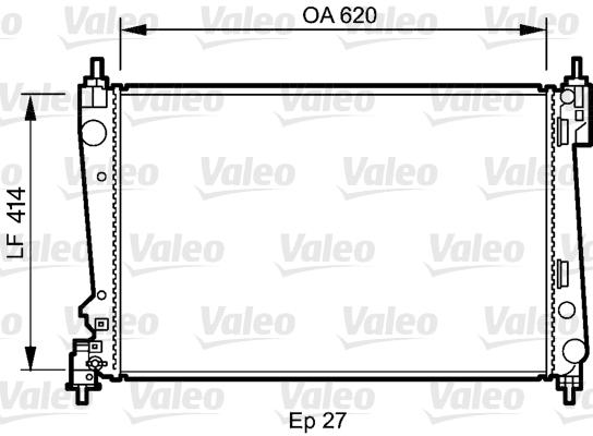 radiateur du moteur pour alfa romeo mito 1 3 jtdm