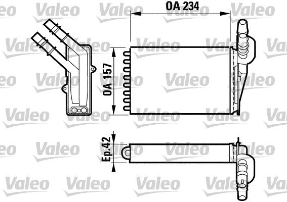 radiateur de chauffage pour renault clio ii 1 5 dci. Black Bedroom Furniture Sets. Home Design Ideas