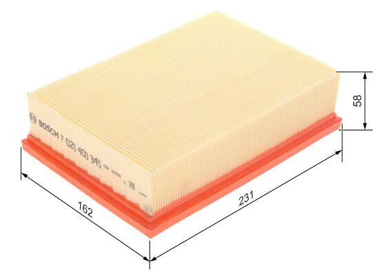 Filtre à air BOSCH F 026 400 345 d'origine
