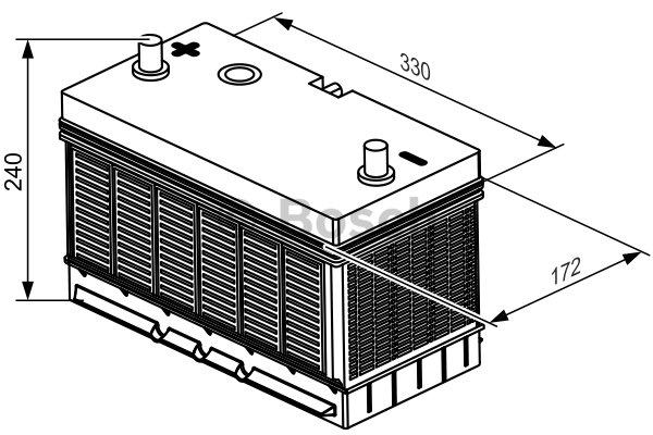Batterie de démarrage BOSCH T3 052 d'origine