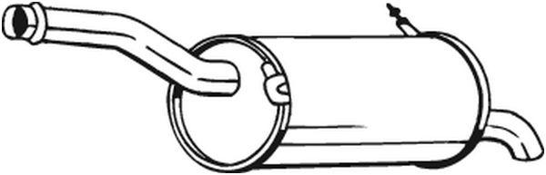 Silencieux arrière BOSAL 135079 d'origine