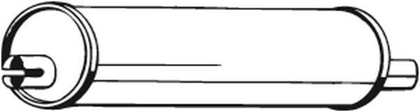 Silencieux central BOSAL 148017 d'origine