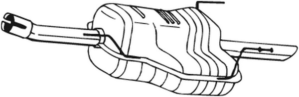 Silencieux arrière BOSAL 185167 d'origine