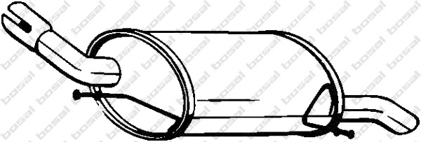 Silencieux arrière BOSAL 185947 d'origine