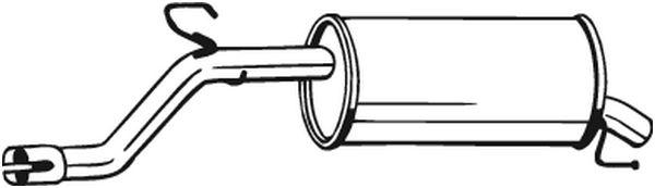 Silencieux arrière BOSAL 185189 d'origine